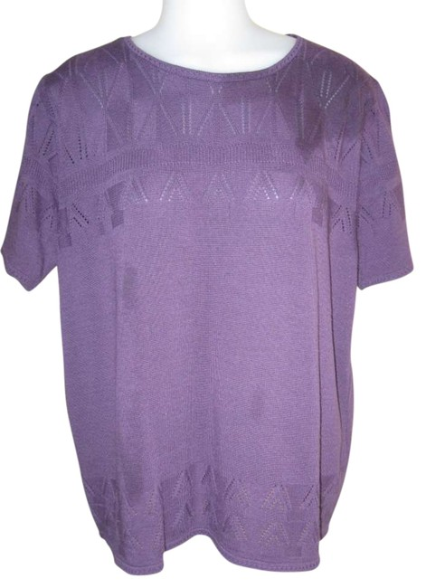 Preload https://item1.tradesy.com/images/alfred-dunner-purple-sweaterpullover-size-10-m-294185-0-0.jpg?width=400&height=650