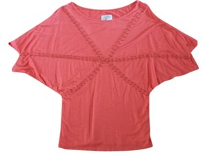 Soul Revival Studded T Shirt Coral