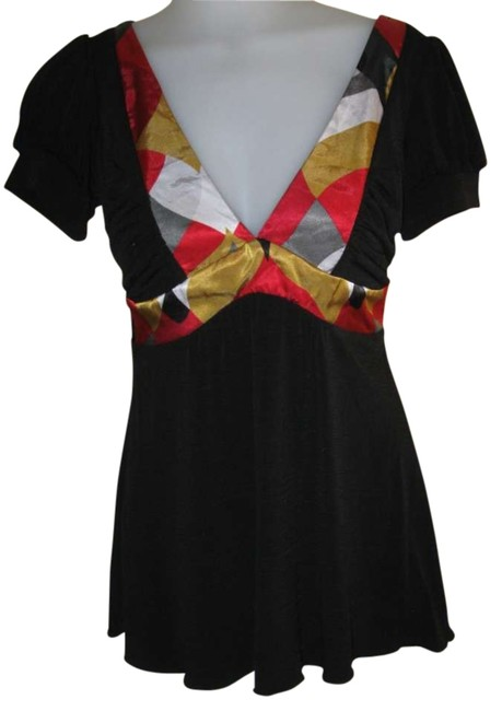 Preload https://img-static.tradesy.com/item/294192/xoxo-black-with-red-and-gold-pattern-blouse-size-6-s-0-0-650-650.jpg
