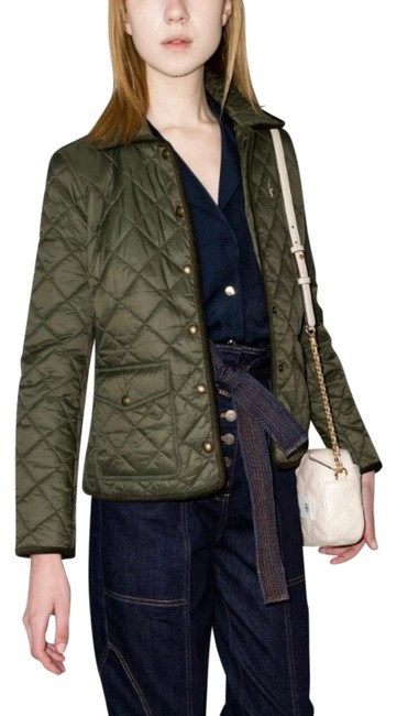 Item - Green Quilted Jacket Size 10 (M)