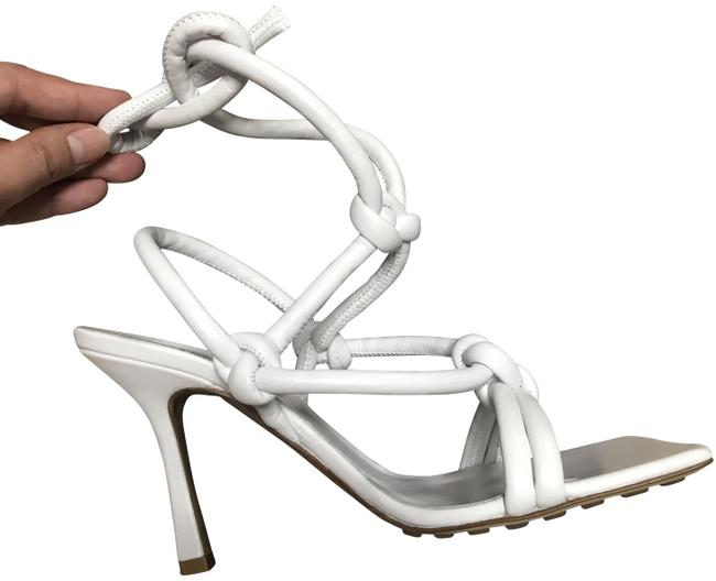 Item - White Knot Ankle Tie Sandals Size EU 38 (Approx. US 8) Regular (M, B)