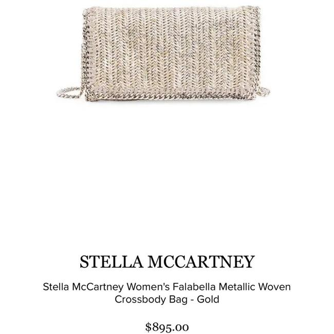 Item - Rare Falabell Woven Rose Gold Faux Leather Cross Body Bag
