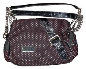 Other Retro Pin Up Polka Dot Canvas Goth Vamp black Clutch