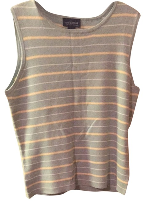 Preload https://img-static.tradesy.com/item/2942347/ann-taylor-pale-yellow-and-pale-teal-tank-topcami-size-14-l-0-0-650-650.jpg