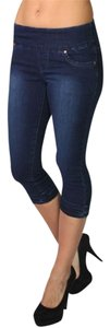Lola Jeans Stretch Jeggings Joggers Pull-on Capri/Cropped Denim-Medium Wash