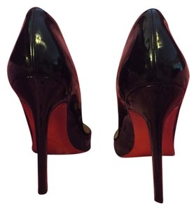 Christian Louboutin Patent Black Leather Pumps