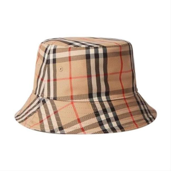 Item - Bucket Checked Cotton-blend Large Size Hat