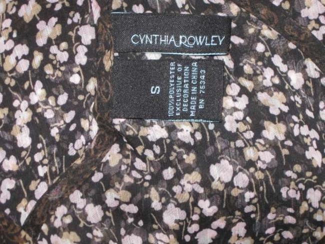 Cynthia Rowley Top Black with Floral pattern