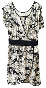 Anthropologie short dress Black And Cream on Tradesy