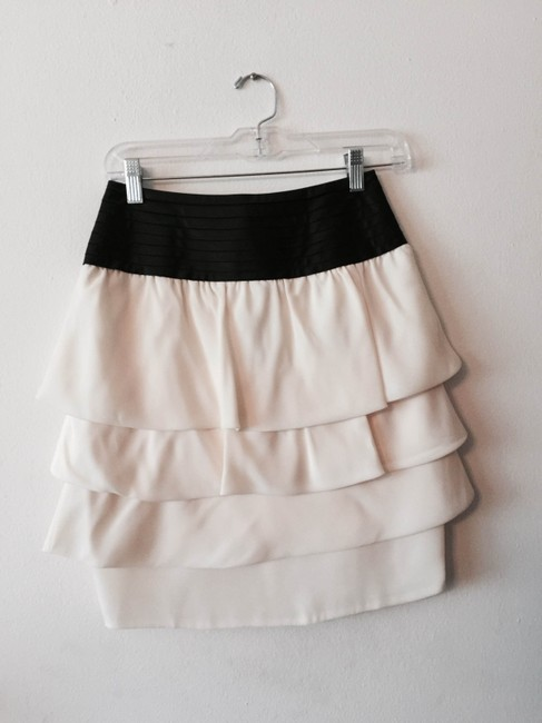 Reiss Skirt Cream and Black Waist Image 1