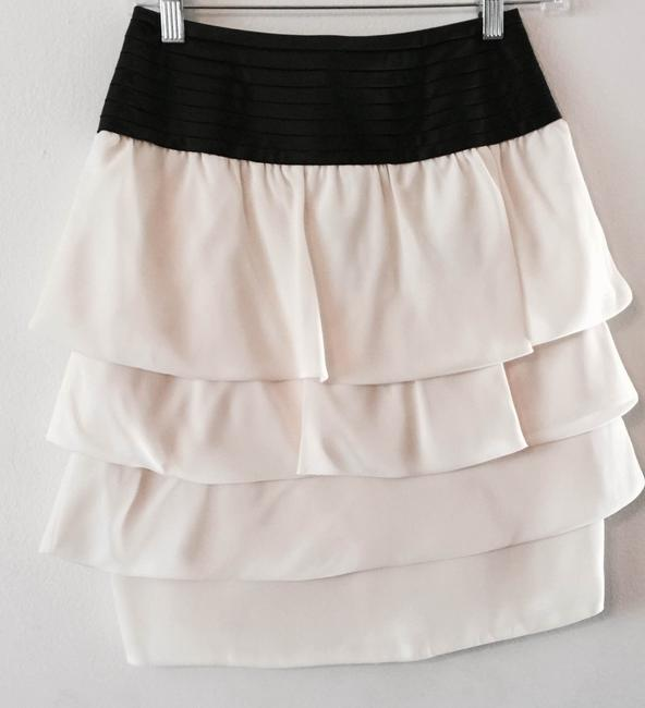 Reiss Skirt Cream and Black Waist Image 2