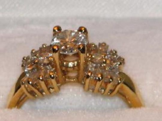 Preload https://img-static.tradesy.com/item/2943052/yellow-gold-round-and-baguette-diamond-in-14k-130-tcw-engagement-ring-0-0-540-540.jpg