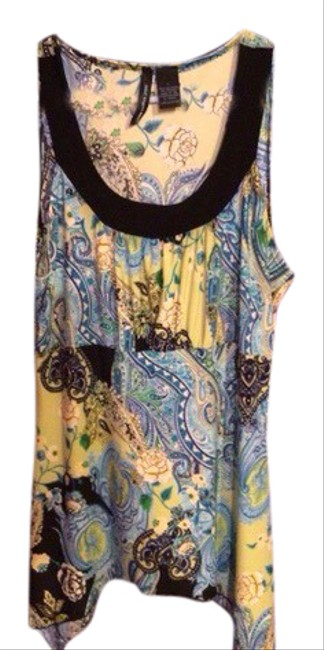 Item - Blue Nwot Sleeveless Blouse Longer On The Sides Tank Top/Cami Size 12 (L)
