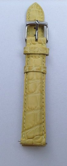 Michele Authentic Michele 16mm Yellow Alligator Leather Watch Band