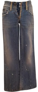 dolce&gabbana Rhinestone Distressed Boot Cut Jeans-Distressed