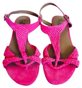 Belle by Sigerson Morrison Hot Pink Suede Sandals