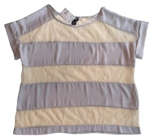 H&M Top Gray/creme