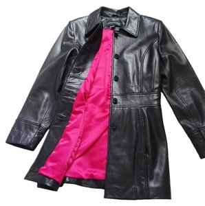 Kenneth Cole Leather Leather Classic Coat Leather Jacket