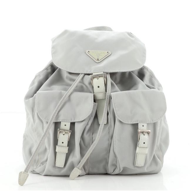 Item - Double Front Pocket Tessuto Small Neutral Nylon Backpack
