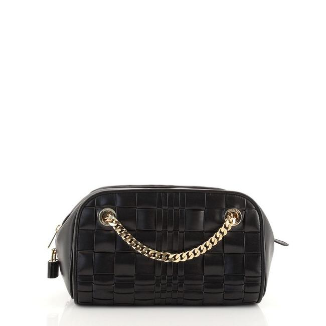 Item - Chain Bag Double Cube Woven Small Black Leather Clutch