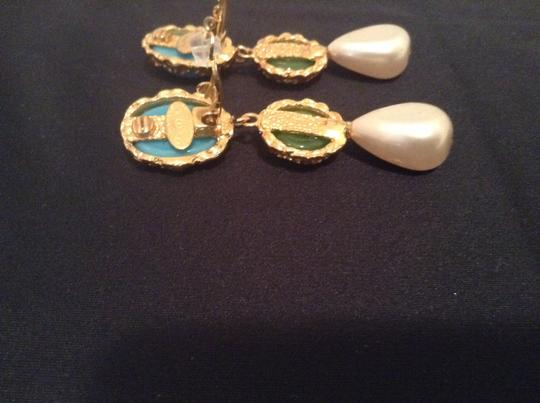 Chanel CHANEL RARE VINTAGE SEASON 28 GRIPOIX GOLD PLATED CC CLIP EARRINGS Image 5