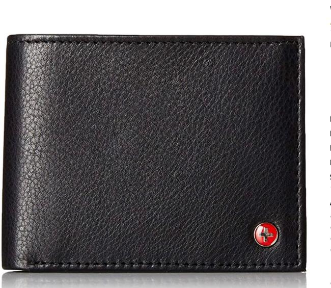 Item - Black Mens Leather Bifold Removable Flip Up Id Window Wallet