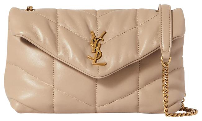 Item - Monogram Loulou Ysl Puffer Toy In Quilted Lambskin Dark Beige Leather Shoulder Bag