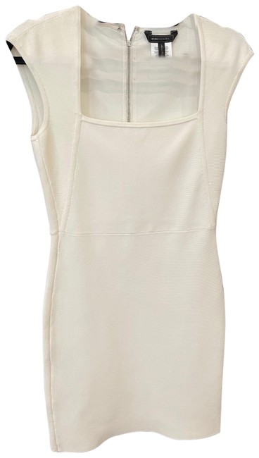 Item - White Bcbg Fitted Bodycon Short Cocktail Dress Size 4 (S)