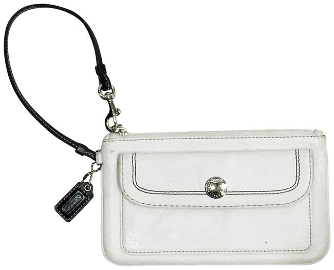 Item - And Brown Wallet White Leather Wristlet