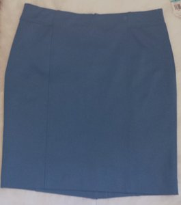 Charter Club Pencil Blue Lined Summer Spring Comfortable Skirt Teal