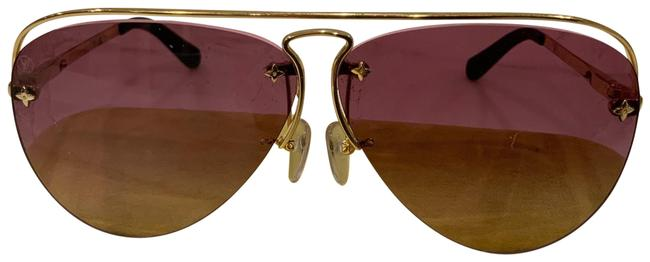 """Item - Pink Aubergine Gold """"grease"""" Aviator Frames with Gradient Lenses Sunglasses"""