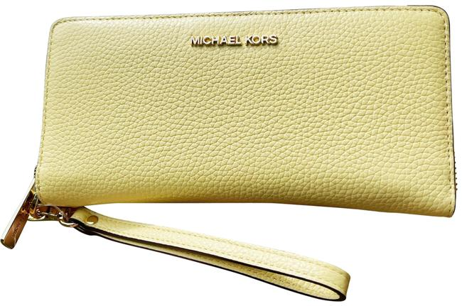 Item - Jet Set Continental Buttercup Yellow Pebbled Leather Wristlet