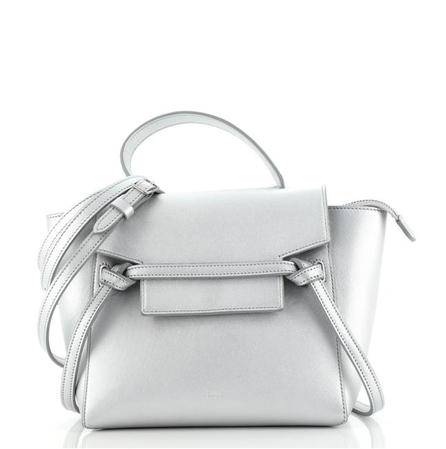 Item - Belt Bag Textured Nano Silver Leather Tote