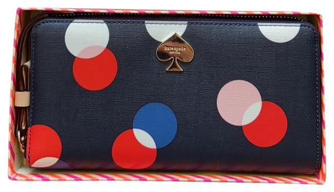 Item - Navy with Red White Blue & Pink Cobblestone Park Wallet