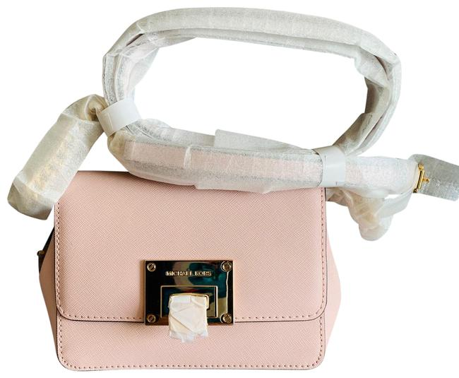 Item - Clutch Sm Tina Clutch/Crossbody Product Details Gold Tone Hardware Buckle Closure Exterior: 1 Back Slip 3 Blossom Pink Leather Cross Body Bag