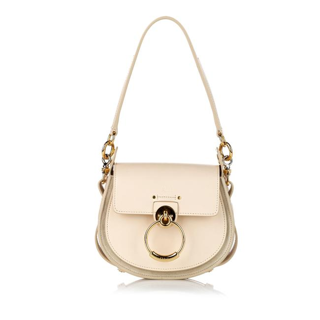 Item - Small Tess White Leather Satchel