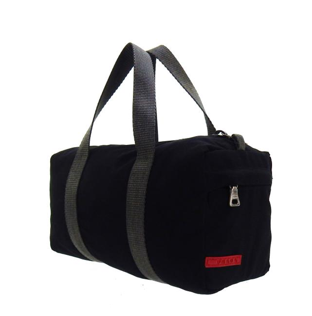 Item - Linea Rossa Sport Gym Mini Black and Gray Poly Canvas Tote