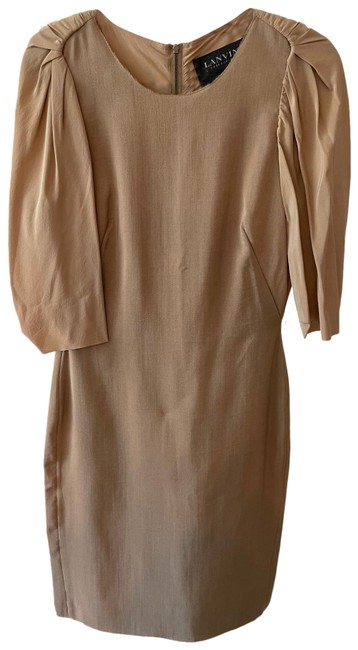 Item - Beige Collection Mid-length Formal Dress Size 4 (S)