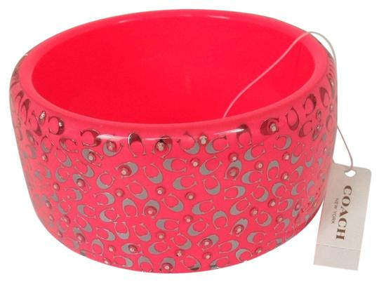 Preload https://item2.tradesy.com/images/coach-new-sparkle-signature-c-resin-bangle-neon-pink-2944201-0-0.jpg?width=440&height=440
