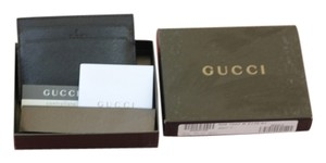 Gucci Gucci Controllato Made in Italy Black Leather Credit Card Holder with six slots y Gift.