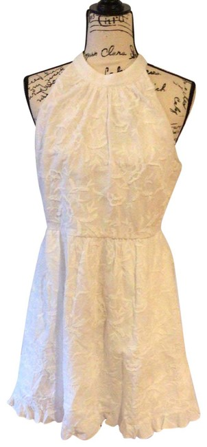 Item - White Fit and Flare Mid-length Night Out Dress Size 8 (M)