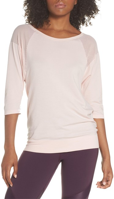 Item - Peach Dharana Yoga Perforated Tee Activewear Top Size 12 (L)