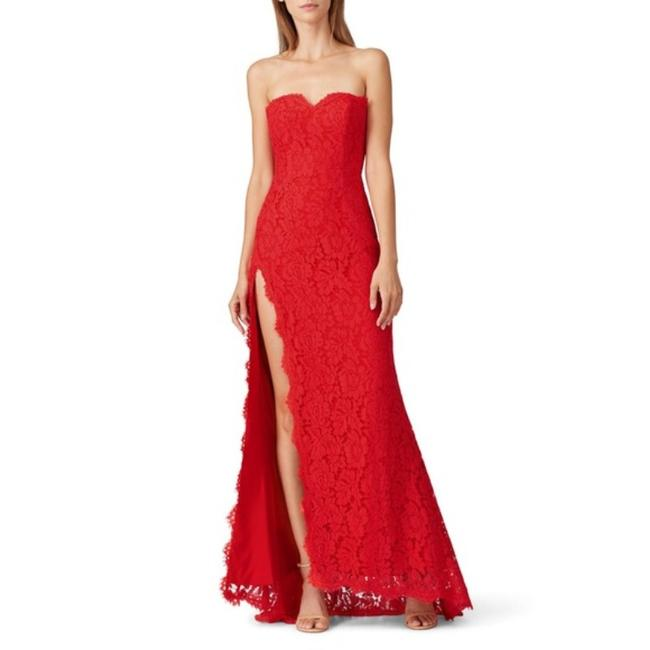 Item - Red Twilight Lace Gown In Long Formal Dress Size 6 (S)