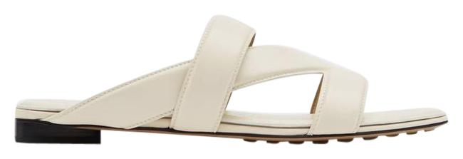 Item - White Band Leather Sandals Size EU 37 (Approx. US 7) Regular (M, B)