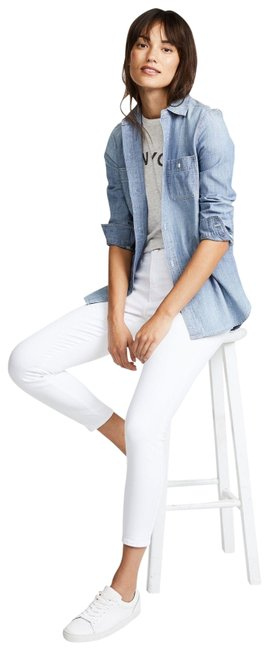 Item - White Margot High-rise Cropped Super Skinny Jeans Size 30 (6, M)