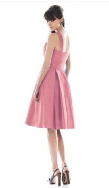 Alfred Sung Knee-length One Shoulder Dupioni Dress