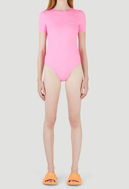 Balenciaga Pink Open Back Swimsuit One-piece Bathing Suit Size 8 (M) Balenciaga Pink Open Back Swimsuit One-piece Bathing Suit Size 8 (M) Image 2