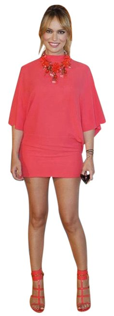 Item - Pink Coral Cape Sleeve Short Casual Dress Size 4 (S)