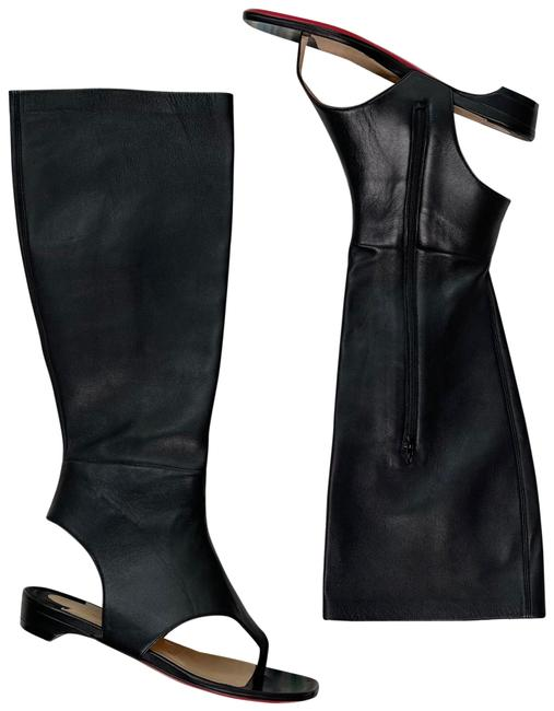 Item - Black From Sand Nappa Leather Thong Sandal Boot Flats Size EU 35 (Approx. US 5) Regular (M, B)