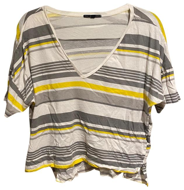 Item - V-neck Striped Colorful Tee Shirt Size 8 (M)